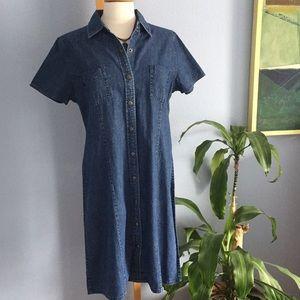 Vintage LL Bean Denim Coat Dress